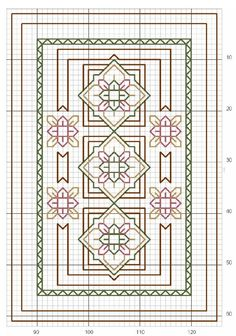 blackwork, part 2 ... no color chart available, just use pattern chart as your color guide.. or choose your own colors...