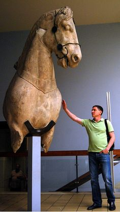 Fragment of one of the colossal horses from the quadriga of the Mausoleum at Halikarnassos, around 350 BC. Photo by Evgeny Legedin, via Flickr