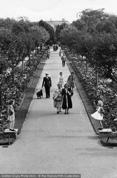 1955 How charming is this photograph of two young girls playing in the gardens in Worthing, Local History, British History, Back In Time, Back In The Day, Nostalgic Images, Emoji Pictures, British Garden, Worthing, History Photos