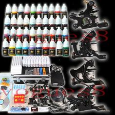 Professional Complete Tattoo Kit 4 Machine Gun 40 Color Ink Needle Power Supply *** Read more reviews of the product by visiting the link on the image-affiliate link. #BeautySalonEquipment