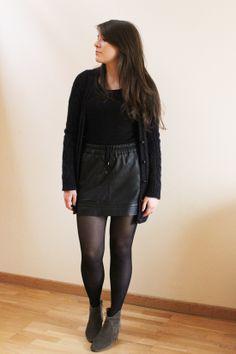 C B C M G - Abercrombie cardi - HM tee - Mango skirt - Isabel Marant boots