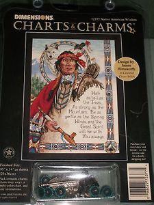 "Free Native American Cross Stitch   ... Dimensions charts and charms ""Native American Wisdom"" cross stitch"
