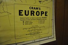Cram's Europe Map | eBay