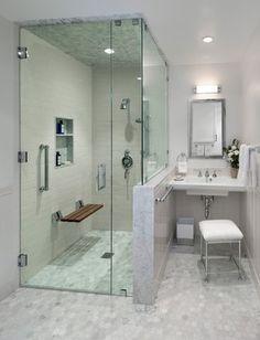 "MidCentury Modern ""ADA Accessible"" Guest House - traditional - Bathroom - Los Angeles - Barbara Grushow Designs LLC"