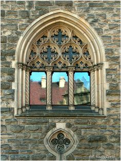The Fishermans Church has some beautiful Gothic style windows that Neil & Jackie were certain that they would keep.