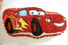 Lightning McQueen Cars Cake!