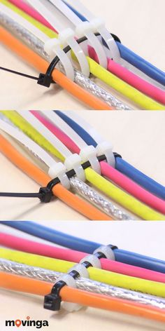 Kabel mit sortieren: Mit dieser super einfachen Methode wirst du He. Cable with ties sort: With this super simple method you will be able to master. Home Electrical Wiring, Electrical Projects, Electrical Installation, Home Office Setup, Desk Setup, Room Setup, House Wiring, Home Network, Diy Electronics