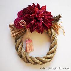 お正月飾り/ダリア紅 - カラーパレットフラワーズ