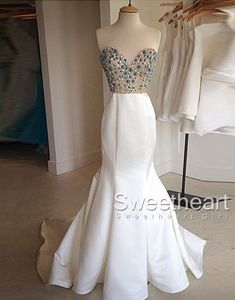 Modest prom dress long, white mermaid long prom dress for teens, unique sequin long evening dress 2016 #prom #promdress