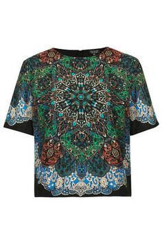 Folk Print Tee - Tops - Clothing