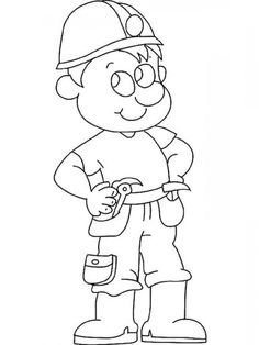 the brilliant beautiful construction worker coloring page httpcoloring alifiah - Construction Worker Coloring Page
