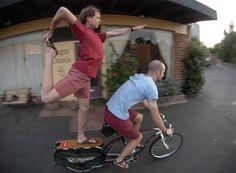 yoga on a bike
