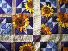 sunflowers patchwork