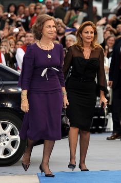Queen Sofia of Spain and Princess Alia of Jordan