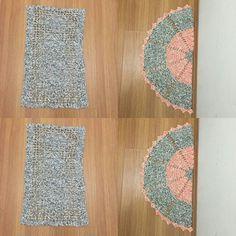 Conjuntinho de tapete para porta