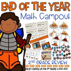 This 70 page unit covers 9 2nd grade math topics to review at the end of the year. It includes task cards, center activities, whole group lessons and more. There are activities for place value: expanded notation, time, addition & subtraction with regrouping, repeating and additive patterns, fractions, money, multiplication, graphs and more. Here is what is included: Roastin' Place Value: An expanded notation activity (3 and 4 digit numbers included) ...