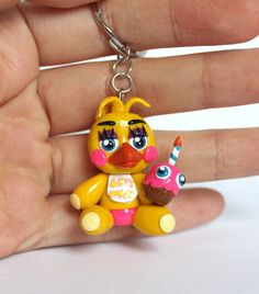 Toy Chica Plush Polymer Clay Keychain Five Nights at by ArtzieRush