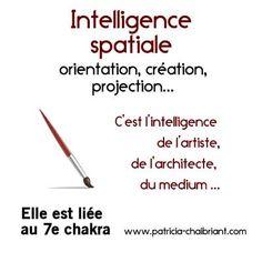 intelligences multiples définition de l'intelligence spatiale liée au 7e chakra