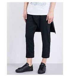 HELMUT LANG Relaxed-Fit Skirted Stretch-Cotton Pants. #helmutlang #cloth #pants & shorts