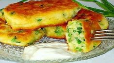 Recipe Pancakes on kefir with green onions Hungarian Recipes, Russian Recipes, Kefir, Good Food, Yummy Food, Cooking Recipes, Healthy Recipes, Galette, Seafood Dishes