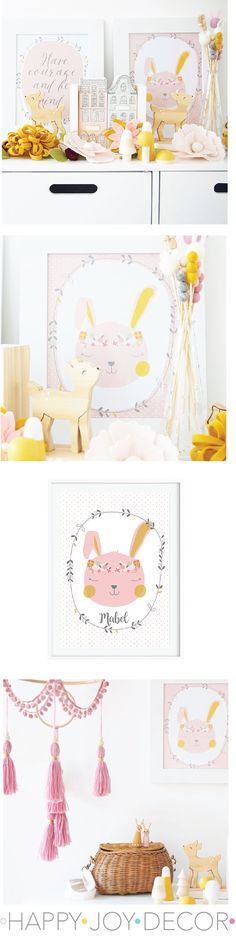 So easy to update rooms with instant download prints Nursery Themes, Nursery Decor, Nursery Ideas, Bunny Nursery, Girl Nursery, Boys Bedroom Decor, Bedroom Ideas, Art Wall Kids, Wall Art