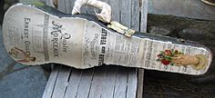 Upcycled shabby vintage violin case sheet by LittleBeachDesigns, $56.00