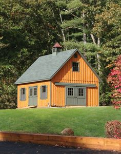 What a beautiful landscape this Kloter Farms x Board & Batten Elite Cape storage building is placed in! Shed Design, Garage Design, Roof Design, House Design, Storage Sheds For Sale, Garden Storage Shed, Built In Storage, Garden In The Woods, Home And Garden