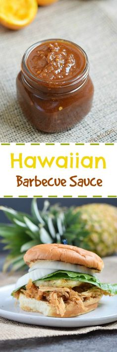 This tangy and fruity Hawaiian Barbecue Sauce is a a combination of teriyaki and barbecue sauces that gives your meal some Aloha spirit | cookingwithcurls.com