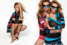 An image from Juicy Couture's spring-summer 2016 campaign. Candice, and Behati and Candice.