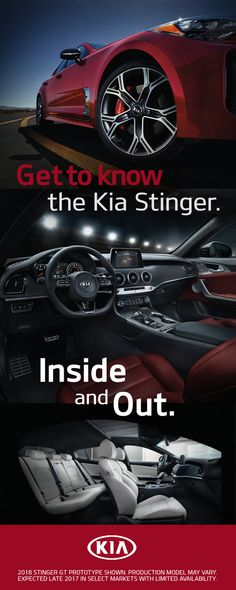 The all-new, long awaited Kia Stinger is finally here. Visit Kia.com and check out image galleries, event info, technical specs, and so much more.