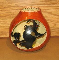 Beech Creek Gourds - Art Gourd: Happy Halloween