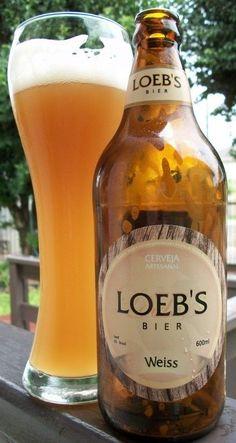 Cerveja Loeb's Bier Weiss, estilo German Weizen, produzida por Cervejaria Caseira, Brasil. 4.9% ABV de álcool.