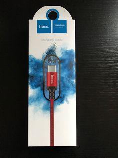 Hoco X14 USB Typ C Kabel Rot und Schwarz 2 Meter alle Geräte mit USB-C Anschluß