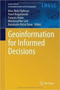 This book presents the latest research developments in geoinformation science, which includes all the sub-disciplines of the field, such as: geomatic engineering, GIS, remote sensing, digital photogrammetry, digital cartography, etc.