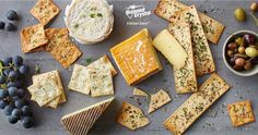 Cheese plates and  crackers with Diamond Crystal® Sea Salt are a great and easy snack or appetizer. Here's some fun inspiration for your appetizer spread! #DiamondCrystalSalt #holiday #Inspiration