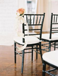 Floral chair treatment. Photo by Ben Q. Photography. www.wedsociety.com #wedding #chairtreatment