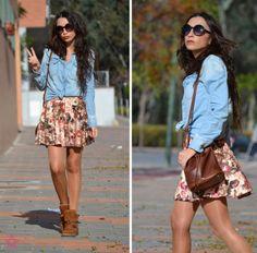Look: Floral Skater Skirt - cienxcienmoda - Trendtation