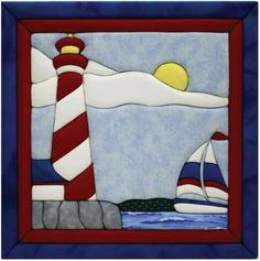 "quilting light house pattern | Quilt Kits - Lighthouse Quilt Magic Kit - 12""X12"""