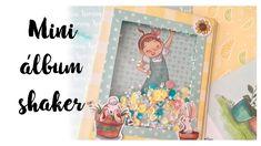 Tutorial mini álbum shaker - Caja cadabra mayo Ritarita.es Mini Albums, Tarjetas Pop Up, Album Scrapbook, Battery Lights, Shaker Cards, Mini Books, Scrapbooks, Decoupage, Paper Crafts