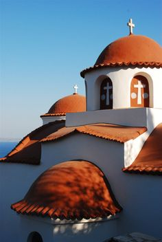 """hellopluisje: """" e-xplore: """" Kalymnos Island, Greece """" """" Mykonos, Santorini Greece, Beautiful Islands, Beautiful Images, Oh The Places You'll Go, Places To Travel, Greek Isles, Place Of Worship, Greece Travel"""