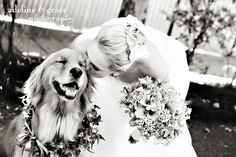 Bride and her dog :). Look at the dogs face. This is precious.