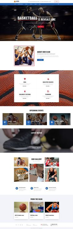 Website Theme , Jumpers - Basketball Club Responsive Multipage