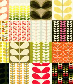 From the Orla Kiely book, Patterns. Love the colour choices for the bottom right one especially xx