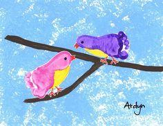 footprint birds | Bird Crafts for Kids | Pinterest | Footprint and ...