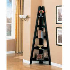 3 Shelf Corner Bookcase at Brookstone—Buy Now!