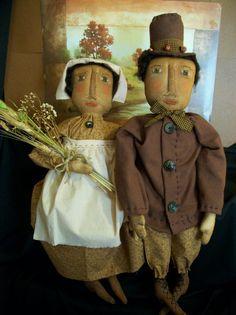 Primitive dolls Pattern for Thanksgiving home by Dumplinragamuffin