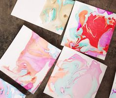 Marbled Stationary | 10 Easy DIY Ways To Add Some Marble To Your Life