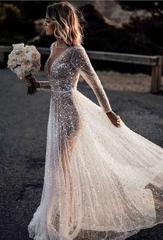 30 Magical Long Sleeve Wedding Dresses For Your Wedding - Translucent Crystal Wedding Dress ★ All types of long sleeve wedding dresses for brides with most exquisite tastes can. Black Wedding Dresses, Wedding Dress Sleeves, Designer Wedding Dresses, Dress Wedding, Elegant Dresses, Lace Dresses, Sexy Dresses, Pretty Dresses, Summer Dresses