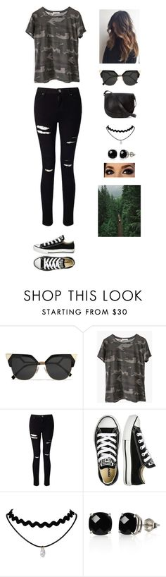 """""""Untitled #645"""" by france247 ❤ liked on Polyvore featuring Fendi, Ragdoll, Miss Selfridge, Converse, Loeffler Randall and Belk & Co."""
