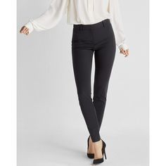 Express High Waisted Skinny Pant ($80) ❤ liked on Polyvore featuring pants, black, evening pants, skinny pants, high waisted trousers, cocktail pants and fitted pants